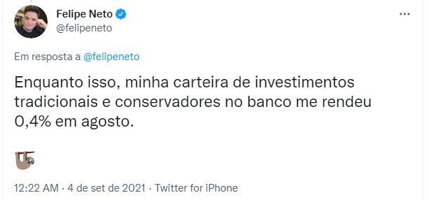 Felipe Neto fordobler sine investeringer i Solana og Ethereum
