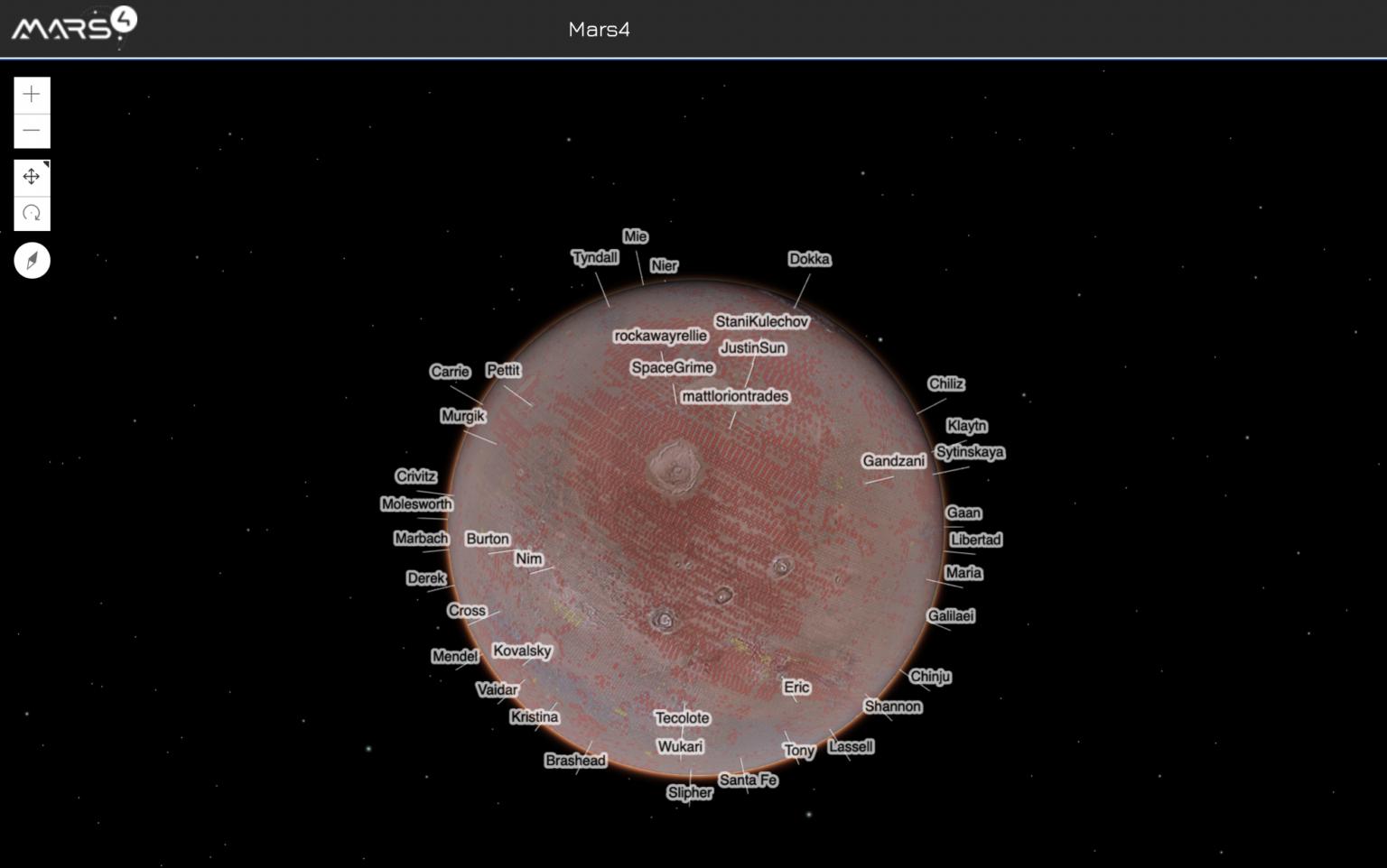 Mars4, metaverse design, er noteret på Bittrex